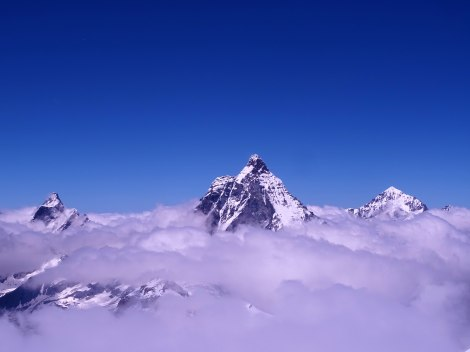 The Matterhorn above the clouds